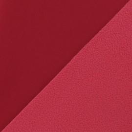 ♥ Coupon tissu 30 cm X 140 cm ♥ Nano-tex Water-repellent Softshell fabric – Dark Red