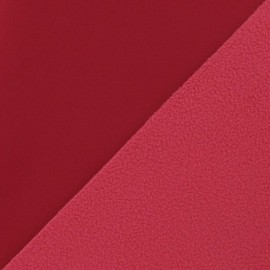 Nano-tex Water-repellent Softshell fabric ? Dark Red x 10cm