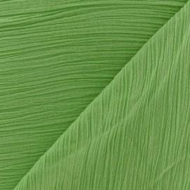 Tissu crépon pistache x 10cm