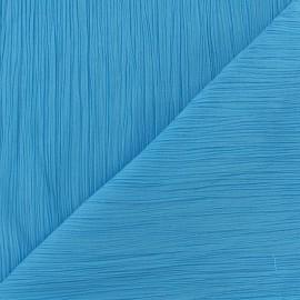Tissu crépon azur clair x 10cm