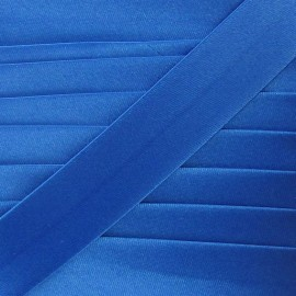 Satin Bias binding 20 mm - blue