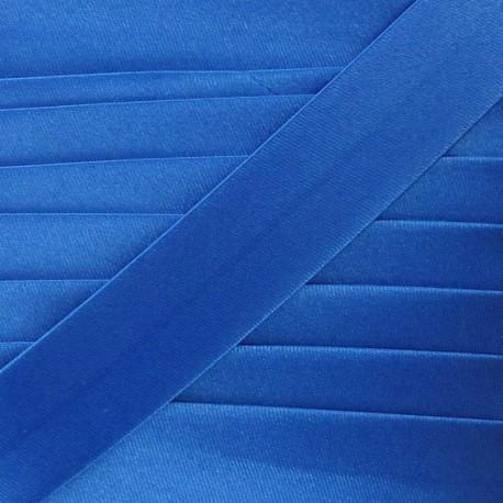 Biais satin bleu 20 mm