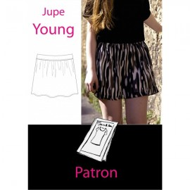 """Young Skirt"" Sewing pattern - multicolored"