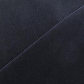 Tissu Velours ras bleu nuit x 10cm