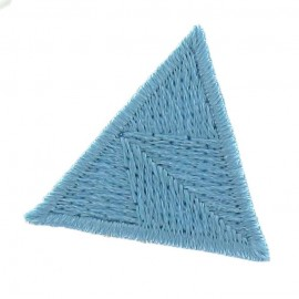 Honeycomb stitch knitting iron-on applique - turquoise