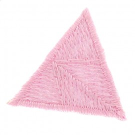Honeycomb stitch knitting iron-on applique - pink