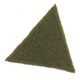Honeycomb stitch knitting iron-on applique - khaki