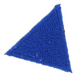 Honeycomb stitch knitting iron-on applique - royal blue