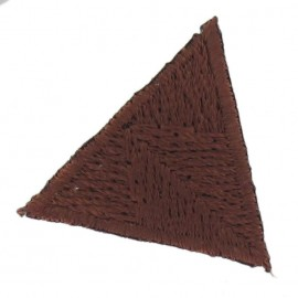 Honeycomb stitch knitting iron-on applique - chocolate