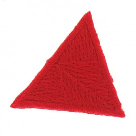 Honeycomb stitch knitting iron-on applique - red
