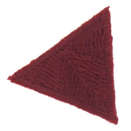 Honeycomb stitch knitting iron-on applique - burgundy