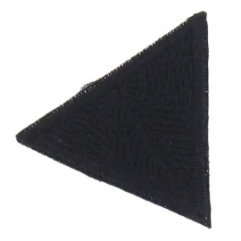 Honeycomb stitch knitting iron-on applique - black