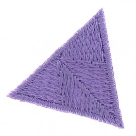 Honeycomb stitch knitting iron-on applique - mauve