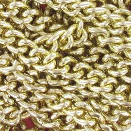 Chaine à maillons 13 mm métal doré