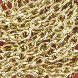 Chaine à maillons 7-8 mm métal doré