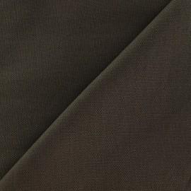 Tissu toile de coton uni CANEVAS Taupe x 10cm