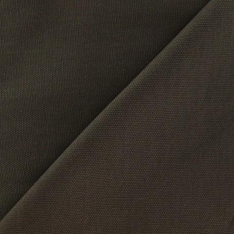 Tissu toile de coton uni Marron x 10cm