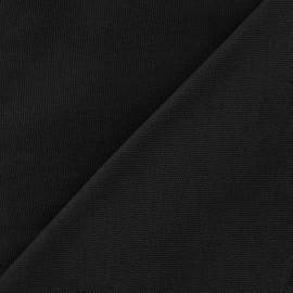 Tissu toile de coton uni CANEVAS Noir x 10cm