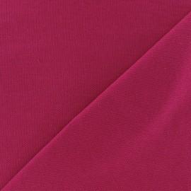Tissu toile de coton uni CANEVAS Fuchsia x 10cm