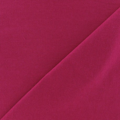 Cotton Canvas Fabric ? CANAVAS Fuchsia x 10cm
