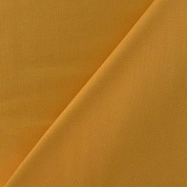Tissu toile de coton uni CANEVAS Moutarde x 10cm