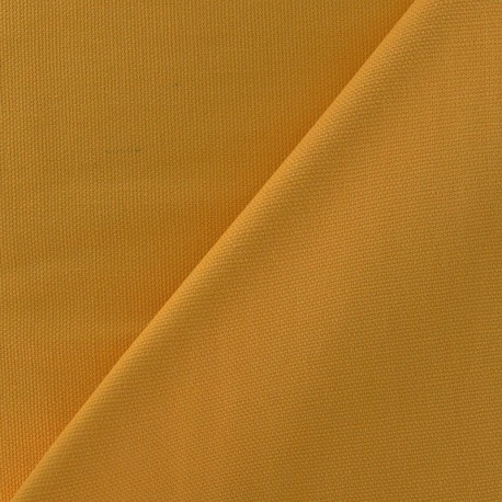 tissu toile de coton uni canevas moutarde x 10cm ma petite mercerie. Black Bedroom Furniture Sets. Home Design Ideas