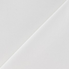 Tissu toile de coton uni CANEVAS Blanc x 10cm