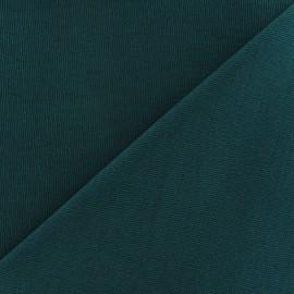 Tissu toile de coton uni CANEVAS vert pin x 10cm