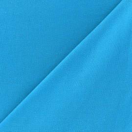 Tissu toile de coton uni CANEVAS Turquoise x 10cm