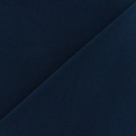 Tissu toile de coton uni CANEVAS Bleu nuit x 10cm