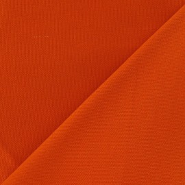 Tissu toile de coton uni CANEVAS Orange x 10cm