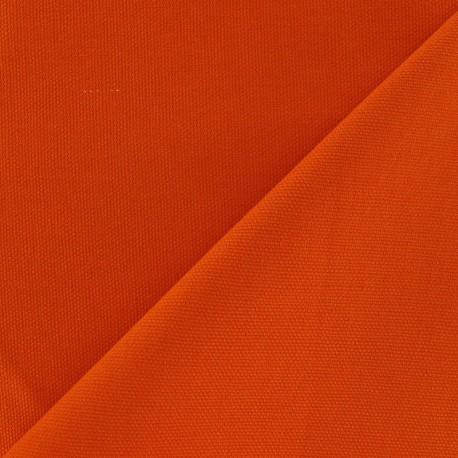 Tissu toile de coton uni Brique