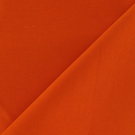 Cotton Canvas Fabric - CANAVAS Orange x 10cm