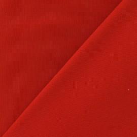 Tissu toile de coton uni CANEVAS Rouge vif x 10cm
