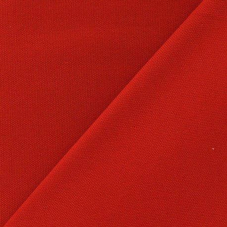 Tissu toile de coton uni Orange x 10cm