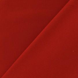 Tissu toile de coton uni CANEVAS Rouge x 10cm