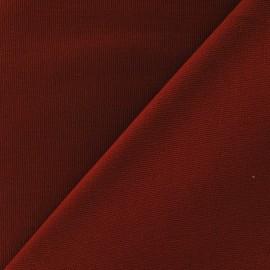 Tissu toile de coton uni CANEVAS Carmin x 10cm