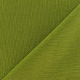 Tissu toile de coton uni CANEVAS Vert Mousse x 10cm
