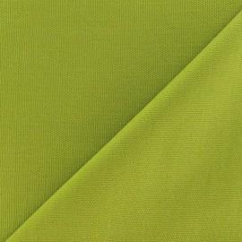 Tissu toile de coton uni CANEVAS Vert Anis x 10cm