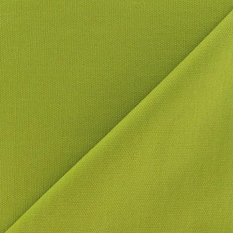 Tissu toile de coton uni Vert Anis