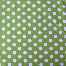 Dots Fabric - Green x 10cm
