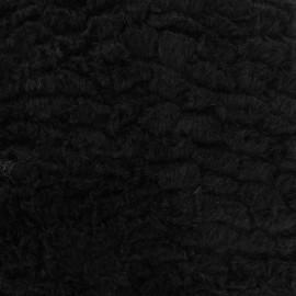 Fourrure fantaisie mungo noir x 10cm