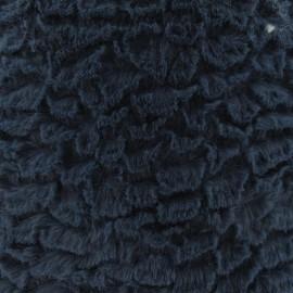 Fourrure fantaisie mungo bleu gris x 10cm