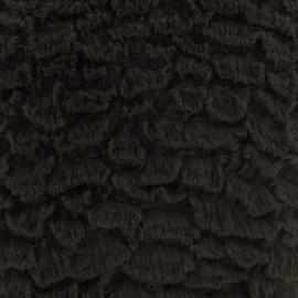 Fourrure fantaisie mungo marron x 10cm