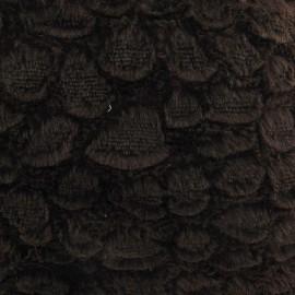 Fourrure fantaisie écailles marron x 10cm