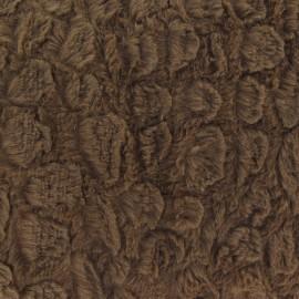Fourrure fantaisie écailles brun x 10cm