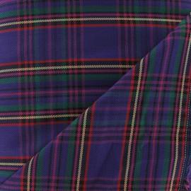 Scottish tartan fabric - purple/green/yellow x10cm
