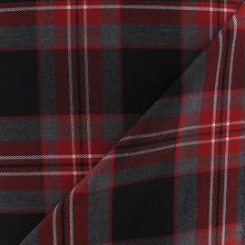 Tissu tartan écossais Sable / Noir / Blanc x10cm