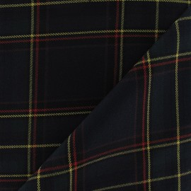 Scottish tartan fabric - military green x10cm