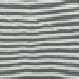 Jersey fabric with mini stripes V2  - khaki x 10cm